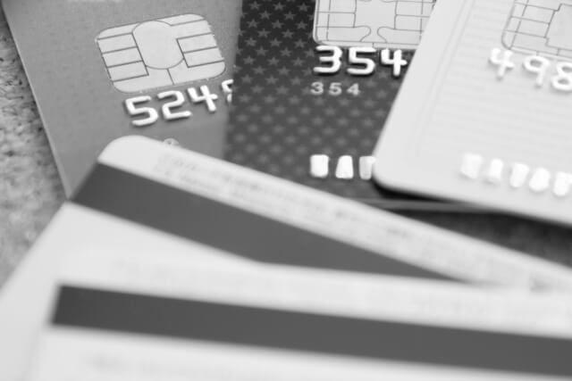 クレジットカード(モノクロ)